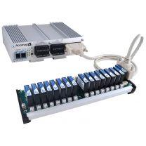 E/S déportées EtherStax 2151 : 16 E ANA/T, 16 E ANA/C, 16 S ANA/ C, 2 ports RJ45