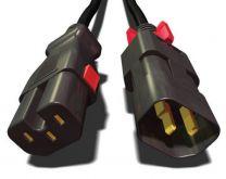 ZLock C15/C14 - Cordons d'alimentation sécurisés anti arrachement aux 2 extrémités