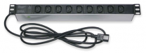 """PDU9pC13-1U-10 - Bandeau d'alimentation 19"""" 9 prises C13, Connecteur C14"""