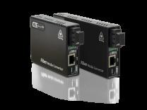 FMC-1000S-PH - Convertisseur 10/100/1000Base–T à 100/1000Base-X SFP avec PoE+ (PSE)