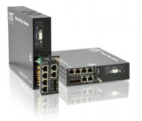 FRM220-GFOM - Multiplexeur 4 ou 8 E1/T1 + GbE avec fibre redondante