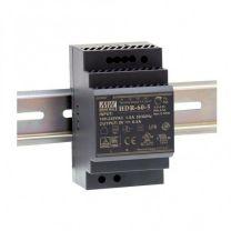 HDR-60xx - Convertisseur AC vers DC rail Din 60W pour tension de sortie 5, 12, 24, 48V