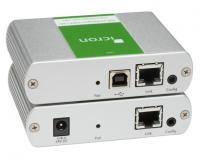 Ranger 2304-LAN - Extendeur USB 2.0 100m sur CAT5+ et LAN 100/1000baseT 4 ports