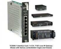 TC3845-1 - Carte 4 ports T1/E1 sur IP/ Ethernet